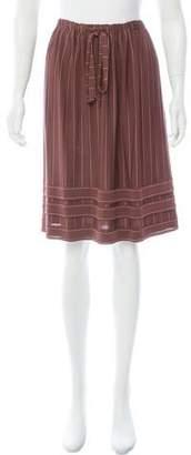 Chanel Pinstripe Knee-Length Skirt