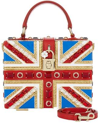 At Harrods Dolce Gabbana Embellished Union Jack Box Bag
