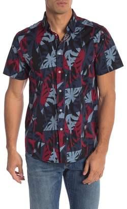 Wellington Short Sleeve Palm-Print Button Shirt