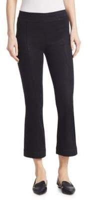 Helmut Lang Crop Coated Flare Leggings
