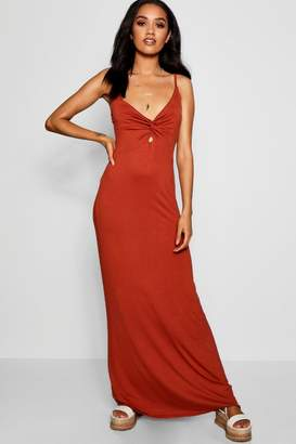 boohoo Petite Twist Front Maxi Dress