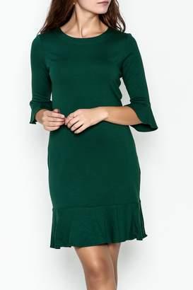 Jade Flounce Hem Shift Dress