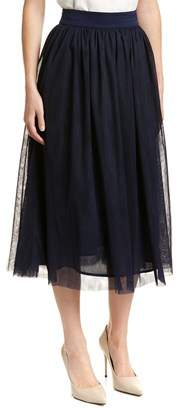 Trina Turk Floris Silk-blend A-line Skirt.