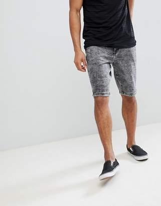 Wrangler Acid Wash Denim Shorts