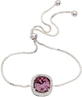 Swarovski CITY ROCKS City Rocks 1/3 CT. T.W. Pink Silver Tone Pure Silver Over Brass Bolo Bracelet