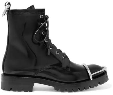 Alexander Wang - Lyndon Embellished Leather Ankle Boots - Black