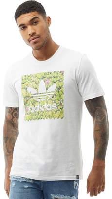 adidas Mens Skateboarding BB Cactus T-Shirt White