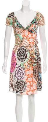 Blumarine Embellished Printed Dress