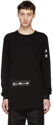 Rick Owens Black Patch Level Long Sleeve T-Shirt