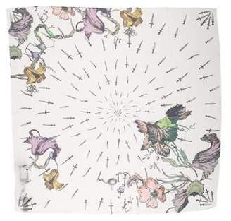 Rag & Bone Silk Floral Print Scarf w/ Tags