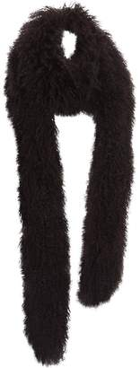 Prada Black Mongolian Lamb Scarves