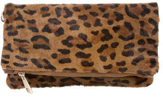 Sandro Ponyhair Leopard Print Clutch $145 thestylecure.com