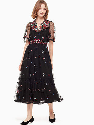 Kate Spade Camelia embroidered midi dress