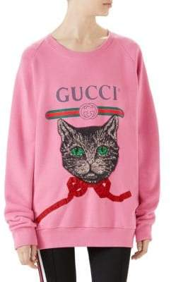 Gucci Jersey Logo& Patch Sweatshirt