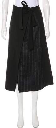 Cédric Charlier Virgin Wool Midi Wrap Skirt