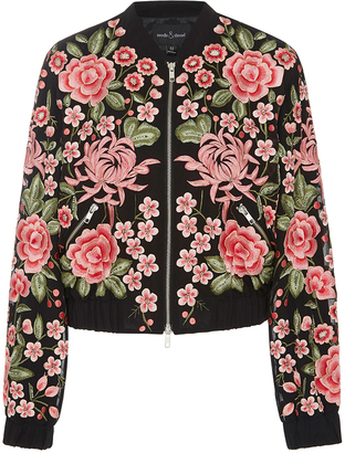 Needle & Thread Floral Embroidered Rose Bomber Jacket $500 thestylecure.com