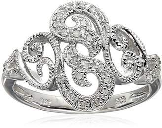 Sterling Filigree Diamond Ring (0.06 cttw