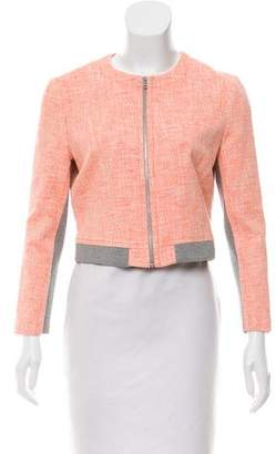 Yigal Azrouel Cut25 by Knit-Trimmed Tweed Jacket