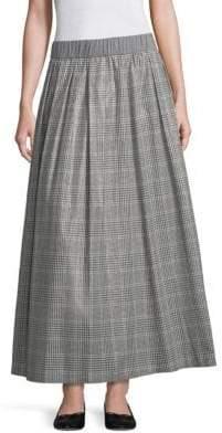 Peserico Checked Cotton Skirt