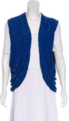 Robert Rodriguez Silk Sequined V-Neck Vest