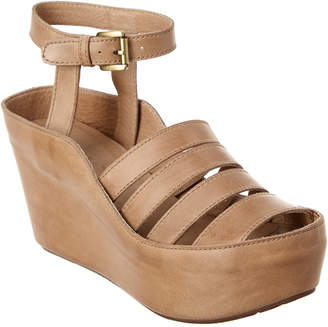 Chocolat Blu Wilson Leather Wedge Sandal