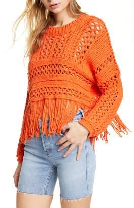 Free People Higher Love Crochet Sweater