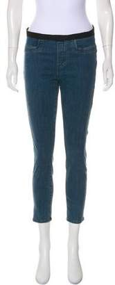 Helmut Lang Mid-Rise Denim Leggings