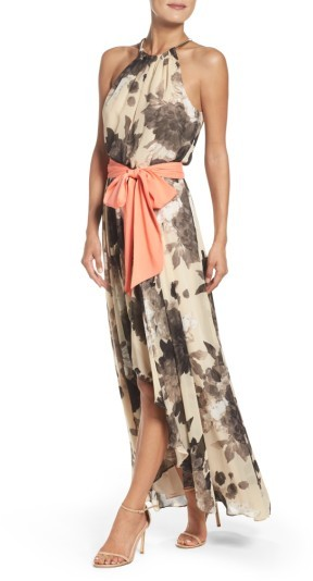 Women's Eliza J Floral Print Chiffon Maxi Dress 4