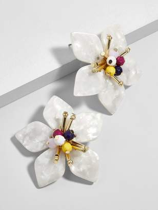 BaubleBar Amarise Flower Resin Stud Earrings