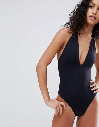 French Connection Plunge Swimsuit