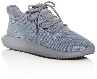 adidas Unisex Tubular Shadow Glitter Knit Lace Up Sneakers - Big Kid