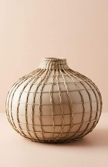 Wrapped Seagrass Vase