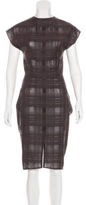 Zero Maria Cornejo Check Midi Dress