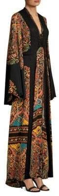 Etro Silk Bell Sleeve Caftan Dress