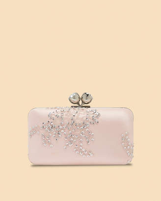 Ted Baker NAVA Embellished bobble clasp satin evening bag
