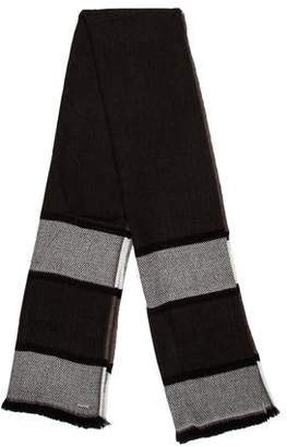Michael Kors Striped Raw-Edge Scarf