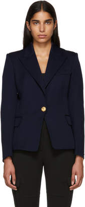 Balmain Navy Classic Single-Button Blazer
