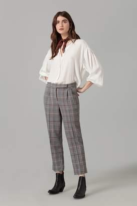 Amanda Wakeley Ecru Satinised Georgette Shirt