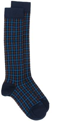 Altea checked long socks