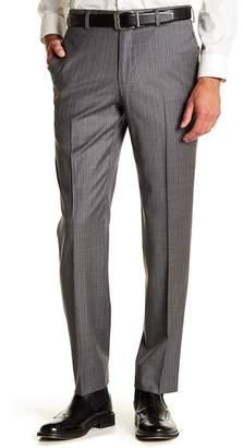 "Brooks Brothers Stripe Print Flat Front Regent Fit Pants - 30-34\"" Inseam"