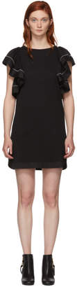 See by Chloe Black Ruffled Dress