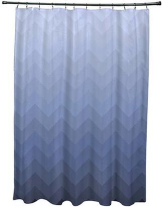 "E By Design Simply Daisy 71"" x 74"" Depth Perception Stripes Print Shower Curtain"