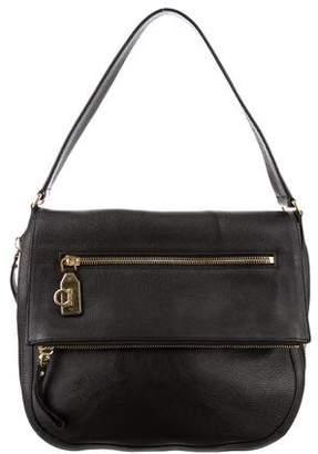 Salvatore Ferragamo Zipper Accented Flap Bag