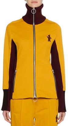Marni Zip-Front Bunny-Logo Techno Jersey Track Jacket