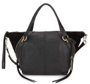 Vince Camuto Winged Leather & Suede Satchel