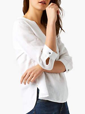 White Stuff Snapshot Linen Shirt, White