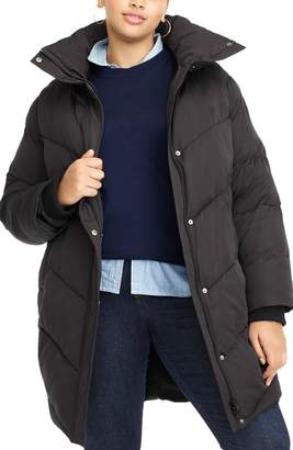 J.Crew Universal Standard for Chevron Long Puffer Coat