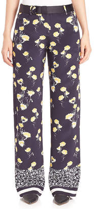 Mother of Pearl Ruthie Silk Wide-Leg Pant