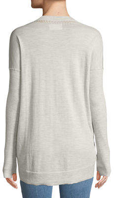 Zadig & Voltaire Preppy Wool Asymmetrical Sweater