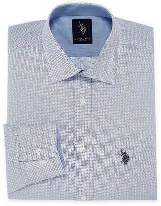 U.S. Polo Assn. USPA Dress Shirt Mens Spread Collar Long Sleeve Dress Shirt - Slim